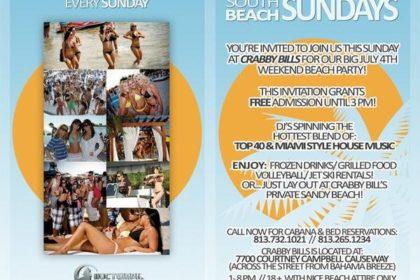 South Beach Sundays Flyer