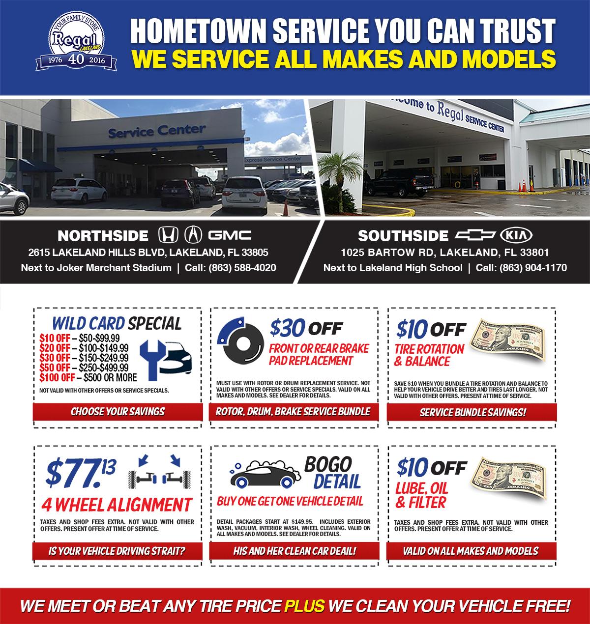Lakeland Auto Repair Specials