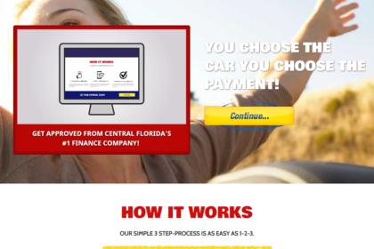Auto Finance Web Design